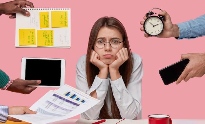 2.仕事が忙しいので、付き合う時間が取れない