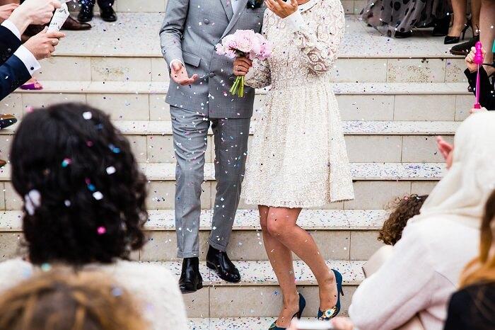 結婚式を見かけることが多い