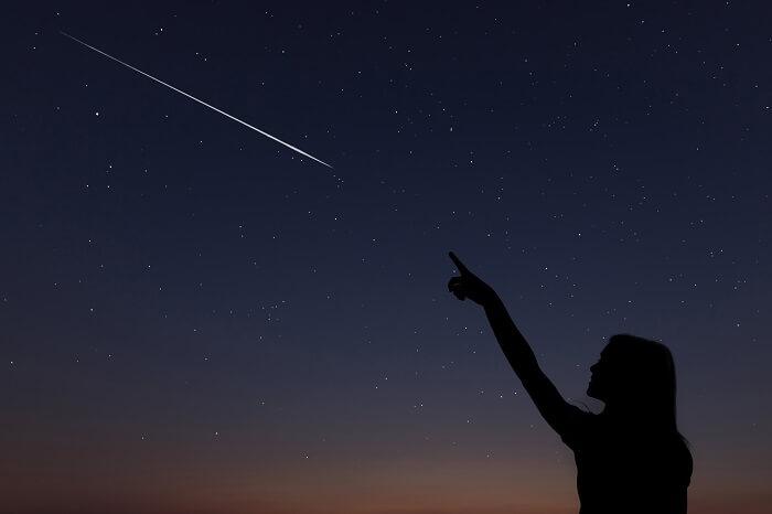 流れ星をよく見る